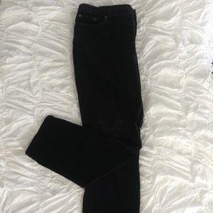 Black Velvet Super Skinny Jeans